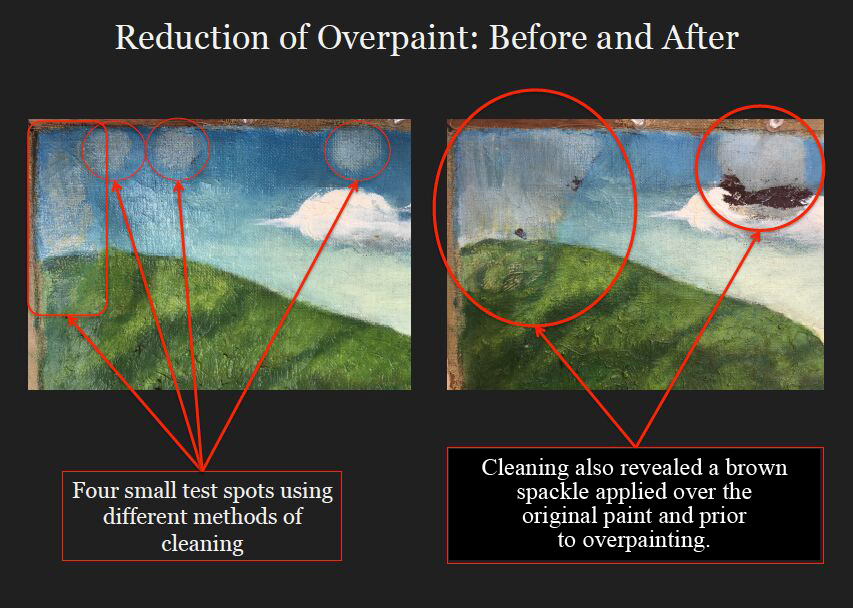 Sky cleaning before after-text change